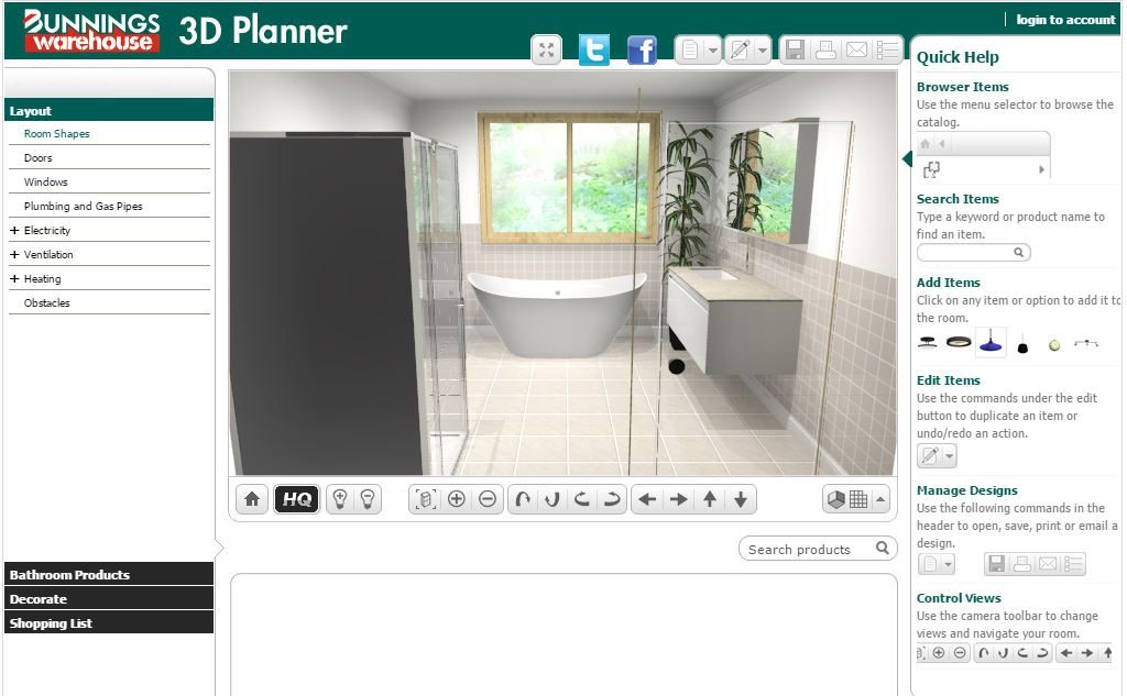 Best free online bathroom planner tools 2017 Online 3d design tool