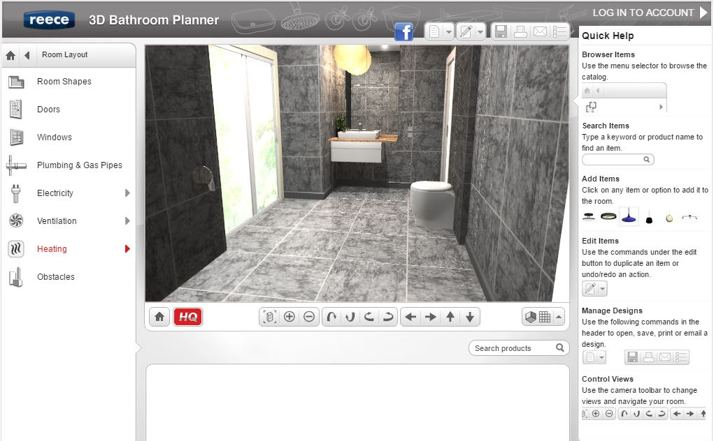 Best free online bathroom planner tools 2017 for Bathroom 2d planner